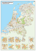Digital 2- and 4- digit postcode map The Netherlands