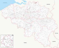 Digital municipal map Belgium