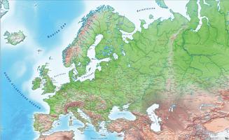 Digital map Europe physical