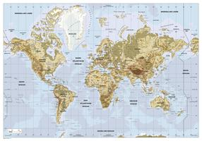 Digital physical world map