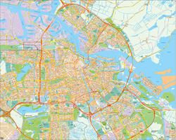 Digital map Amsterdam