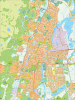 Digital map Haarlem