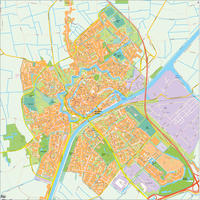 Digital map Middelburg