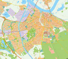 Digital map Nijmegen