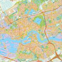 Digital map Rotterdam