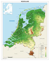 Physical digital basic map The Netherlands