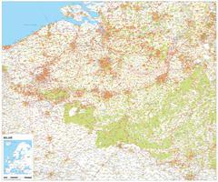 Digital Country Map Belgium 1387