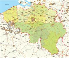 Digital map Belgium political