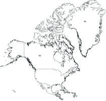 Digital map of North America (free)