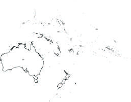 Digital map of Oceania (free)