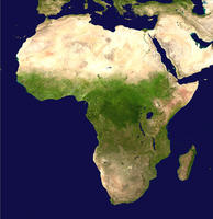 Digital satellite image Africa
