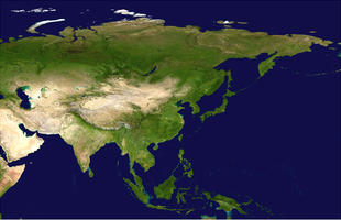 Digital satellite image Asia