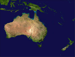 Digital satellite map Oceania