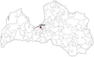 Digital map of Latvia (free)